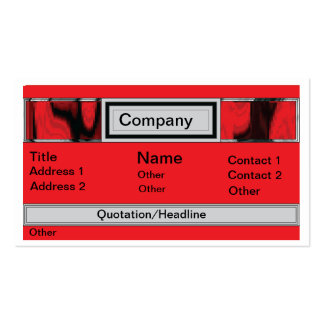 Business Card- Nightlife Red