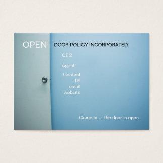 business card office door