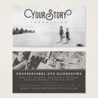 BUSINESS CARD   Old Vintage Kids on Beach Photo