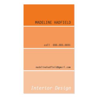 BUSINESS CARD paint chip swatch orange