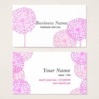 business card - pink dandelion