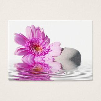 Business card pink flower