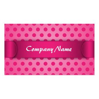 Business card Pink Polka Dot