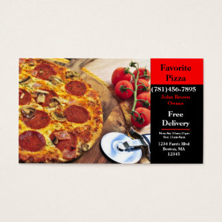 Business Card Pizza Restaurant