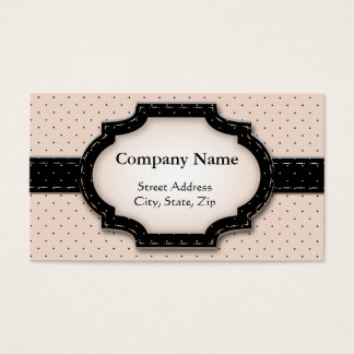 Business card Polka Dot and Flowers