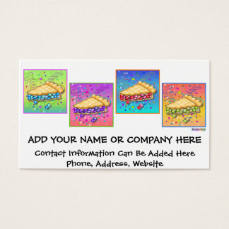Business Card - Pop Art Piece of Pie
