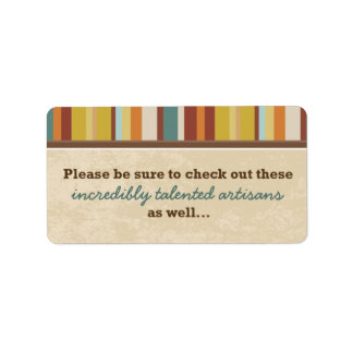 Business Card Pouch Seal (for Events) Address Label