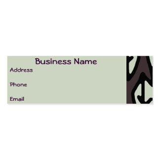 Business Card Purple & Blue Leaf