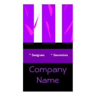 Business Card Purple Pink