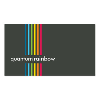 BUSINESS CARD :: rainbowed stripe 3