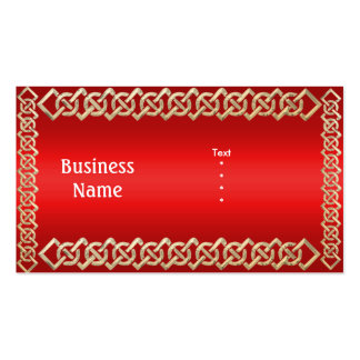 Business Card Red Gold Trim Business Card Templates
