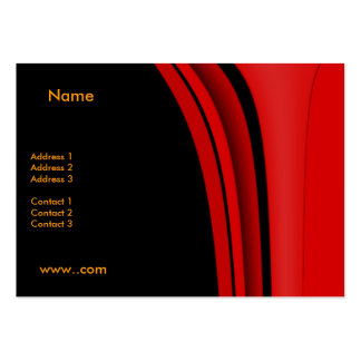Business Card Red Modern Black
