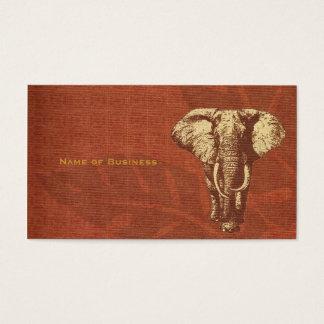 Business Card Safari Elephant