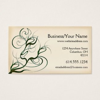 Business Card :: Scary Swirling Tree Branches