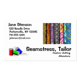Business Card: Seamstress, Tailor Standard Business Cards