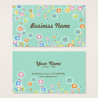 business card - simple floral backgraound