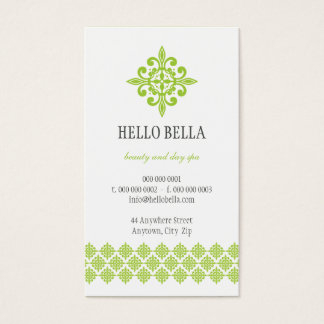 BUSINESS CARD simple modern motif lime green