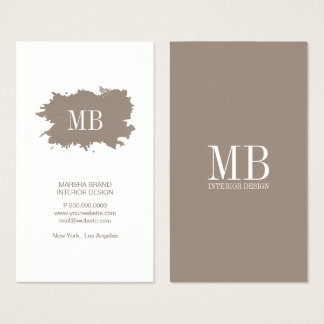 Business Card - Simplistic Splatter Monogram
