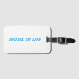 Business Card Slot - Music In Life Logo Luggage Tag