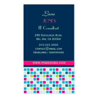 Business Card Square Colors