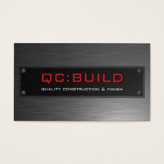 BUSINESS CARD :: stainless steel riveted 4