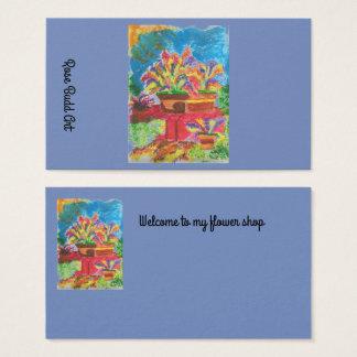 business card standard dark blue