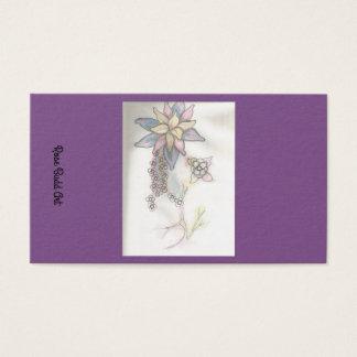 business card standard purple