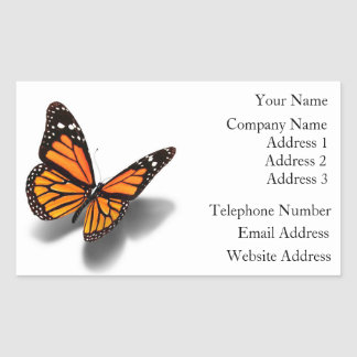 Business Card Stickers Butterfly