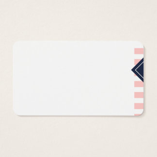 Business card - stripes and losango