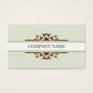 BUSINESS CARD stylish divine vintage green brown