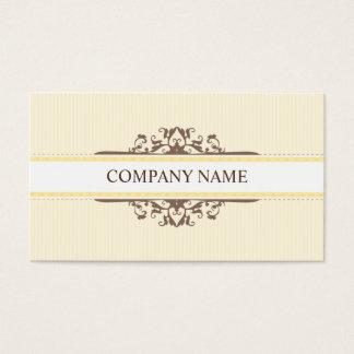 BUSINESS CARD stylish divine vintage mocha yellow