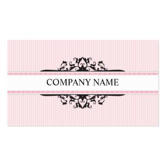 BUSINESS CARD stylish divine vintage pink black