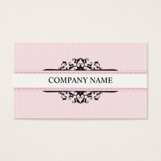 BUSINESS CARD stylish divine vintage pink black