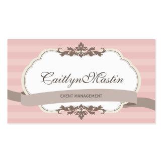 BUSINESS CARD stylish elegant pale pink brown