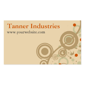 Business Card: Tan Vines Pack Of Standard Business Cards