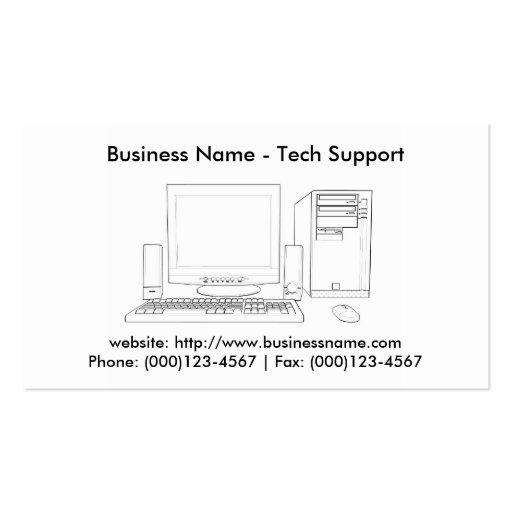 Business Card: Tech Support