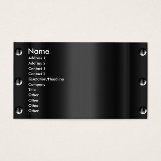 business card Template Black design