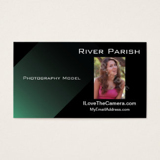 Business Card Template Headshot Model Actors