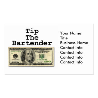 Business Card - TIP THE BARTENDER!