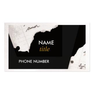 Business Card-Torn Edges