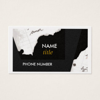 Business Card-Torn Edges Business Card