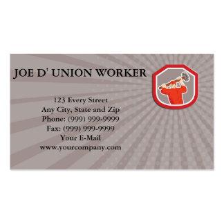 Business card Union Worker Striking Smashhammer Sh