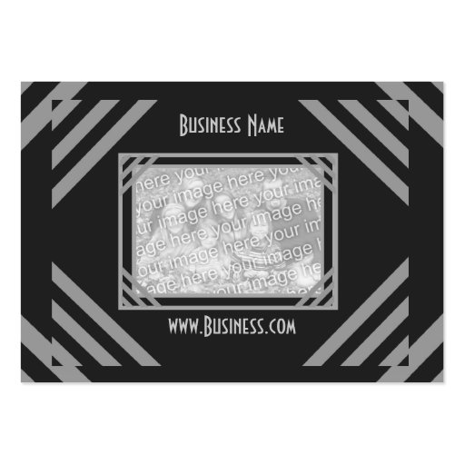 Business Card Vintage Add Logo Black Grey Business Card Templates