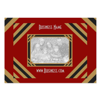Business Card Vintage Add Logo Black Red Business Card Templates