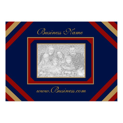 Business Card Vintage Add Logo Navy Red Business Card Template