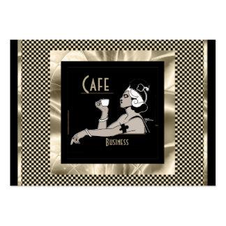 Business Card Vintage Art Deco Cafe Business