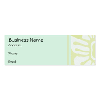 Business Card Vintage Floral Mint