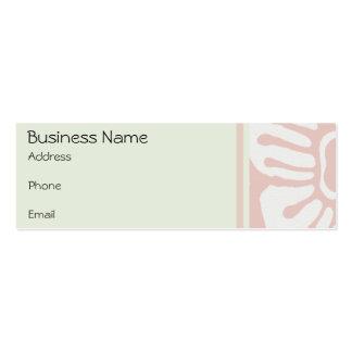 Business Card Vintage Floral Pink & Green