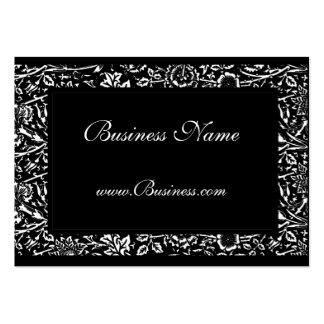 Business Card Vintage Ornate Frame Black White