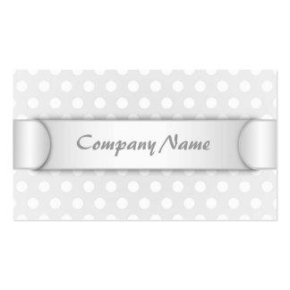 Business card White Polka Dot